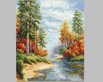 NEW UNOPENED Counted Cross Stitch Kit Golden Fleece VM-001 Autumn Seasons