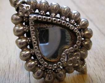 Antique mirror silver ring from Rajasthan