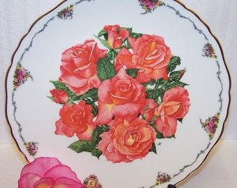 Queen Mother's Favourite Flowers Plate - Royal Albert Plate - Elizabeth of Glamis & Cert - Decorative Royal Albert  Bone  China Plate