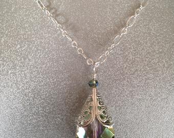 Tear Drop Pendant Necklace, Tear Drop Bead Pendant necklace