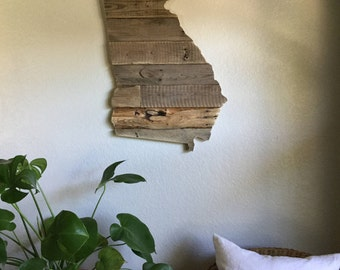 Small Georgia State Sign | Reclaimed Wood | Pallet Sign | Home Decor | Wall Art | Rustic Decor | Barn wood |