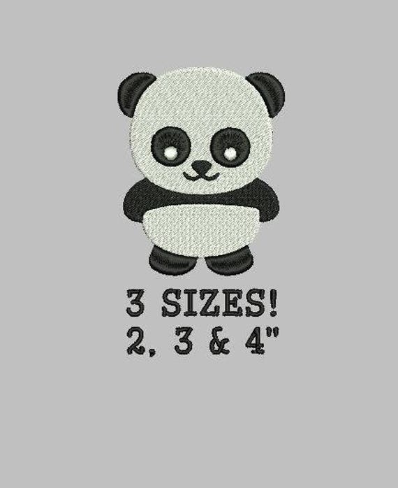 Buy 1 Get 1 Free Panda Embroidery Design Panda Bear Embroidery