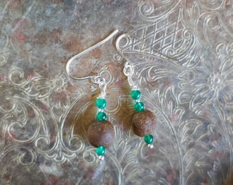 Ode to the forest + Jade organic perfumed earrings. pomander earrings, naturally scented earrings