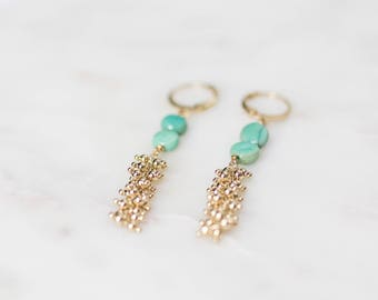Ir'm earrings gilded with gold leaf and end