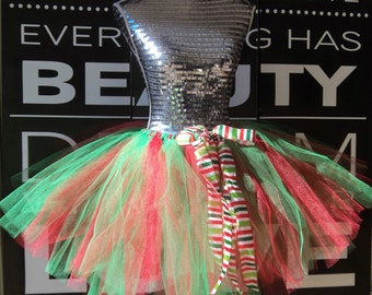 Girls Christmas Tutu - Girls Green Tutu - Green Holiday Tutu - Green Christmas Tutu - Holiday Tutu - Christmas Tutu - Toddler Green Tutu