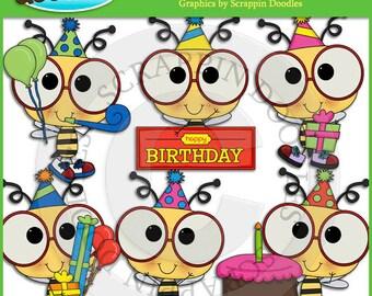 Birthday Bees Clip Art