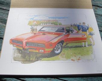 KEN DALLISON Automotive Prints, AC-Delco Promotion, 1982, Vintage Automotive Collectible