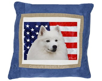 American Eskimo Dog Throw Pillow, American Eskimo Dog Gift, American Eskimo Dog Pillow, American Eskimo Dog Art