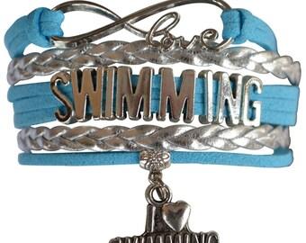 Swim Gift -Swimmer Bracelet, Swim Bracelet –Swimmer Gift - Swimmer - Perfect for Swimmers, Swim Coaches & Swim Team Gifts