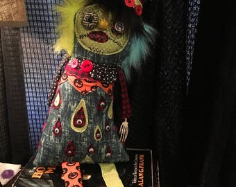 Handmade creepy plush doll