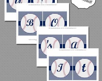 Its a boy chevron baseball baby shower Banner Printable File.