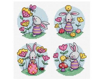 Easter Bunny - Durene J Cross Stitch - DJXS2273