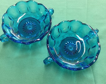 Blue Glass Candy Dishes