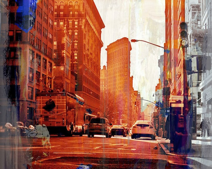 NY DOWNTOWN XV by Sven Pfrommer - 120x90cm Artwork is ready to hang: