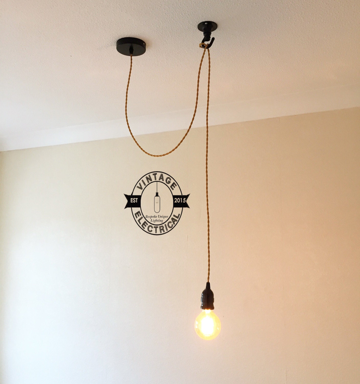 The martham single drop light ceiling rose hanging light fitting the martham single drop light ceiling rose hanging light fitting vintage filament lamp cafe bar restaurant pendant cord twisted cable urban mozeypictures Choice Image