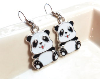 Panda Dangle Earrings
