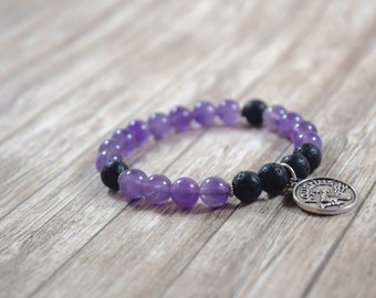 Aquarius Bracelet / zodiac jewelry, aquarius gemstone, aquarius star sign, aquarius jewelry, gift for aquarius gift, amethyst, group 2