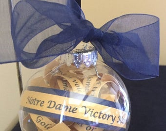 Notre Dame Fight Song Ornament