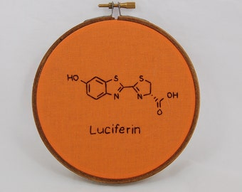 Luciferin Molecule Embroidered Hoop Art
