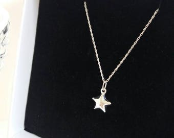 Sterling silver star necklace, sterling silver necklace, star necklace, christmas gift, dainty necklace, star gifts,  birthday, minimalist