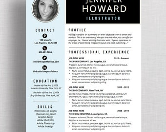 "Resume Template | CV Template + Cover Letter | Modern Resume Designs | Mac or PC | Microsoft Word and Apple Pages  (""Vivre"")"