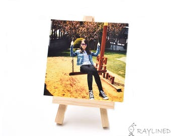 Set of 2pcs Mini Wood Display Easel 5inch Wedding Parties Decoration Name Card Photo Holder Sketching Easel(CTJZ21-MDE-2PCS)