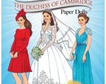 Princess Kate Middleton The Duchess of Cambridge Paper Dolls