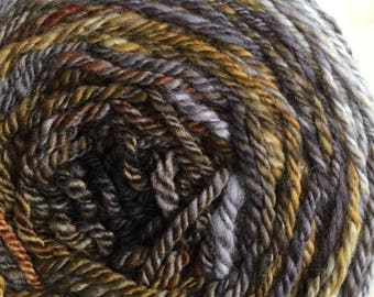 Pennies and Dimes: Handspun Yarn, Subtle Gradient, Sport Weight, Merino Wool, 4 oz/200 yds