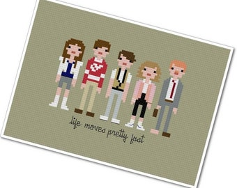 Ferris Bueller's Day Off - The *Original* Pixel People - PDF Cross-stitch Pattern - INSTANT DOWNLOAD