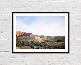 Desert Print, Desert Landscape, Printable Wall Art, Desert Photo, Southwestern Decor, Desert Photography, Digital Print, Instant Download