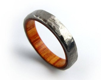 Tulipwood Ring, Women's Ring, Men's Ring, Ring for Girlfriend, Wife Jewelry, Tulip Jewelry, Women's Gift, Stacking Ring, Engagement Ring