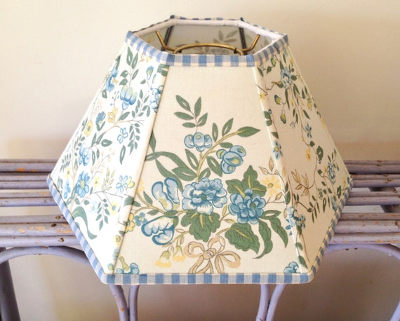 Designer fabric chimney lampshade floral hurricane lamp shade aloadofball Images