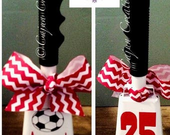 Soccer gifts, cowbell, personalized cowbell, noise maker, coach gift, soccer mom, cow bell