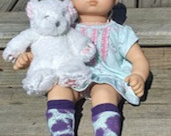 Poppy Swirl Doll Socks - PDF Sewing Pattern