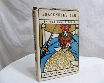 Bracknell's Law,  Wallace HILDICK, Hardcover 1975 Harper & Row, Novel of Suspense, Mystery Murder, Cliff-hanger ending, First Edition