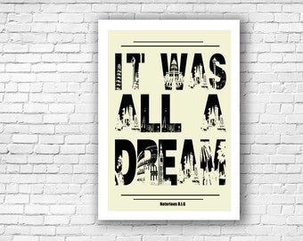 Notorious B.I.G - Rap Lyrics Illustration Print