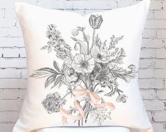 Fall Pillow Cover Fall Wildflower No. 1