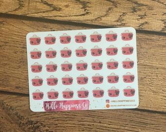 MINI Crock Pot Stickers- Mini Cooking Stickers - Meal Planning Stickers  - Planner Stickers - Functional Stickers