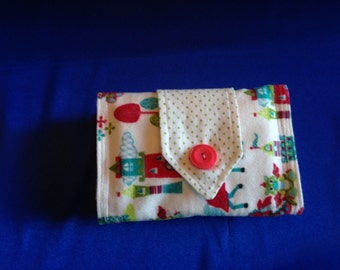 Crayon and Marker Roll, Girls Crayon Roll with Castles, Crayon and Marker Wallet