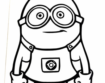 DIY Minion Vinyl Decal, Despicable Me, Cartoon Character, Car Window Decal, Laptop Decal, Tablet Decal, Drinkware Decal, Cell Phone Decal