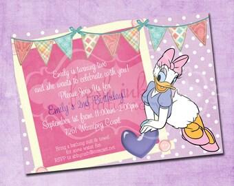 Daisy Duck Birthday Invitation