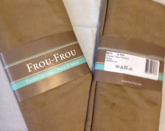 Taupe color suede fabric