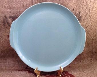 Beautiful Vintage Ceramic Teal Platter