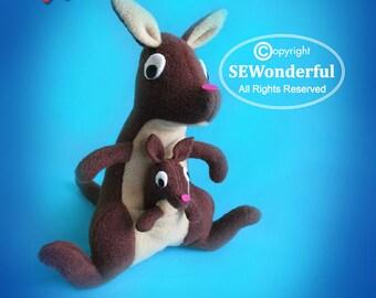 Kangaroo Plush Stuffed Animal Sewing Pattern PDF