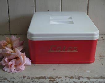 Vintage Cake Kitchen Canister - Kitchen Storage - Cake Tin - Cake Storage Box - Cake box - Retro Kitchen