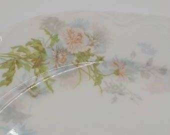 Johnson Bros-Set of 4 -Dessert Plates- Bread and Butter Plates - Porcelain -Vintage-Made in England - Ornate- Floral Pattern