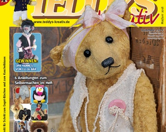 Teddys Kreativ 3 2018 May-June-sewing Teddy bears-sewing patterns-sewing magazine