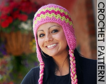 CROCHET HAT PATTERN Adults Zaggy Beanie