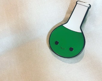 "1"" Happy Little Flask Pin - Mental Heath Awareness - Chemical Makeup"