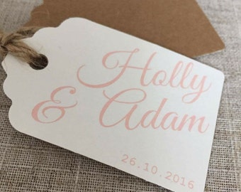 Luxury Personalised Tags for Wedding Favours/Invitations - Pack of 10